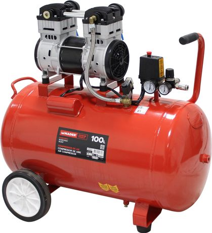 Compressor de Ar Silencioso, 2HP, 100L - MADER® | Power Tools
