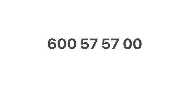Cesja numeru - 6OO5757OO - ZLOTY NUMER - aktywny i nieuzywany od lat
