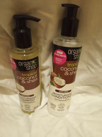 Organic shop kokos szampon i odżywka