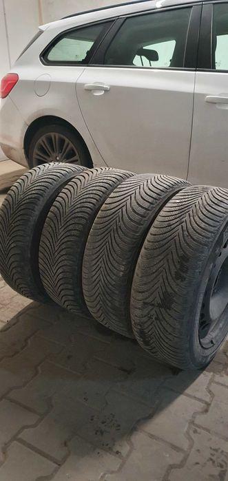 Felgi opony zimowe 5x112 vw audi skoda,seat Michelin Alpin 205/ 55 /16 Żary - image 1