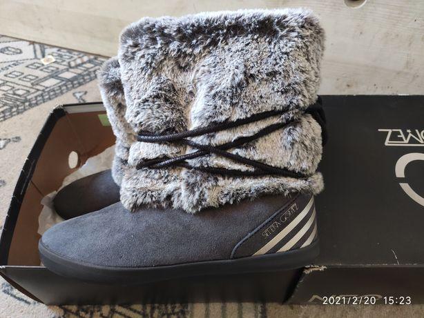 Buty zimowe damskie śniegowce r.38