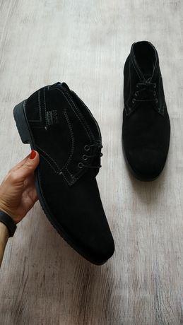 Bugatti кожаные замшевые туфли ботинки с утеплителем