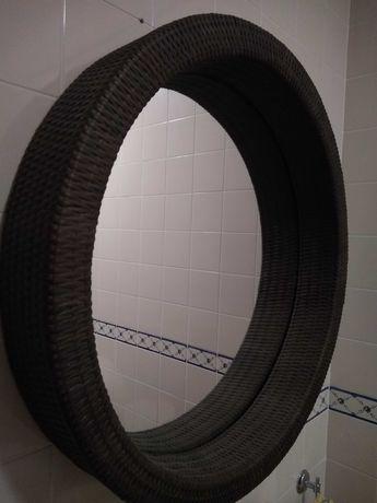 Espelho redondo de vime 73 cm diametro