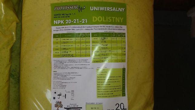 Nawóz dolistny Uniwersalny ZRÓWNOWAŻONY- NPK 20-21-21 w workach 20 kg