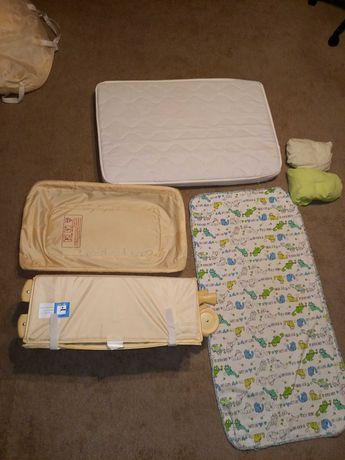łóżeczko turystyczne babystart + materac