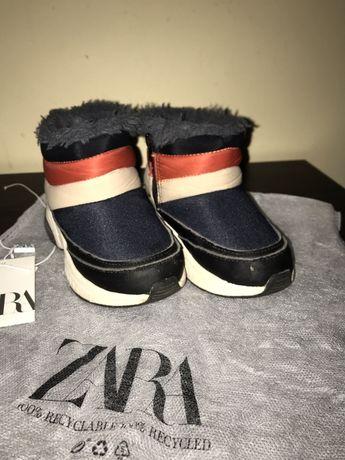 Зимові чобітки Zara 23р