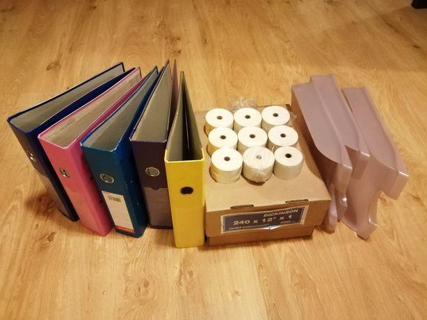Papier składanka + rolki do kasy + tacki + segregatory