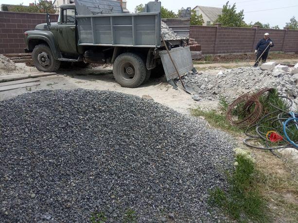 Песок щебень отсев керамзит Бут чорнозем перегной сыпец вывоз мусора