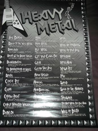 Poster - Heavy Metal Slang, nunca usado e ja descatalogado