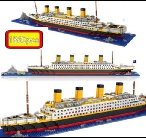 KLOCKI nie LEGO 1860 elementów Statek Titanic