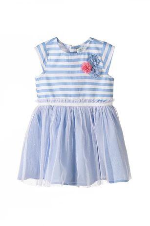 NOWA Sukienka dziewczęca z tiulową falbanką 5 10 15 roz 122  -70%
