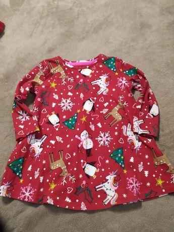 Новогоднее платье на 12-18 месяцев