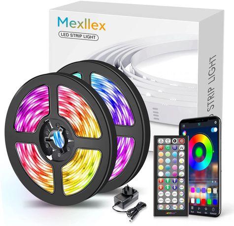 Умная RGB LED лента 7,5м 15м  Mexllex управление телефоном