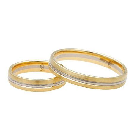 obrączki 585 dwukolorowe bikolor żółte białe złoto delikatne palladowe