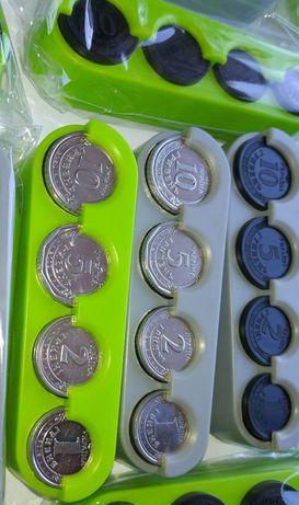 Карманный бокс для гривневых монет, органайзер для монет, монетница