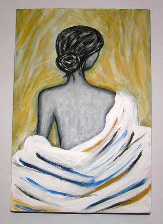 ART-VITO Kobieta obraz malowany ręcznie