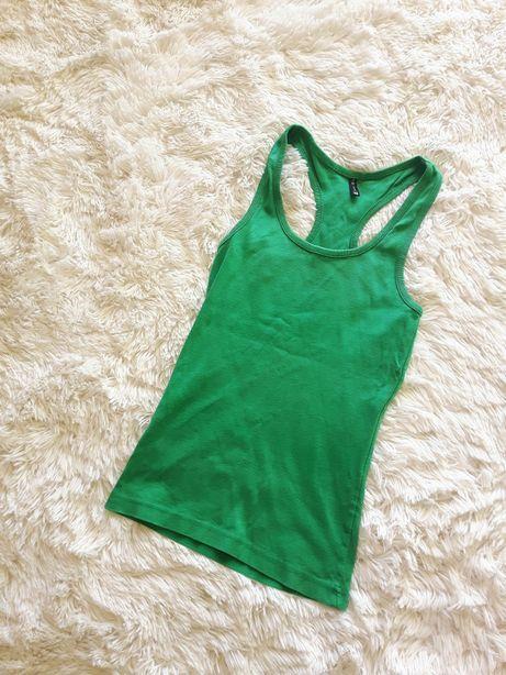 Bokserka/bluzka na ramiączkach zielona