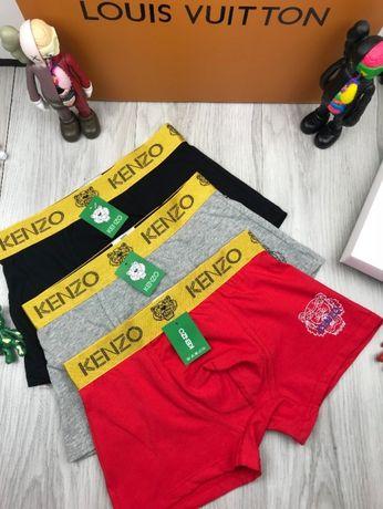 Мужское белье хлопок хб трусы боксеры плавки шортики Кензо Kenzo t012