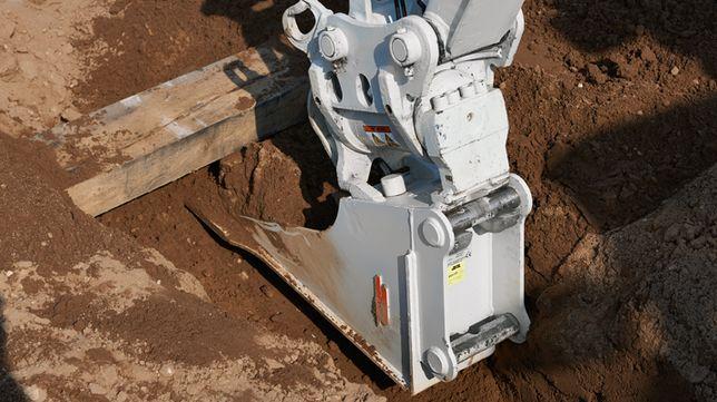 Łyżka łopatowa do kopania pod rury pod szybozłącze MS01!