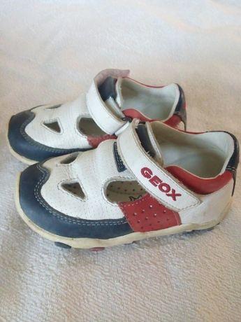 Детские кожаные кроссовки DEOX