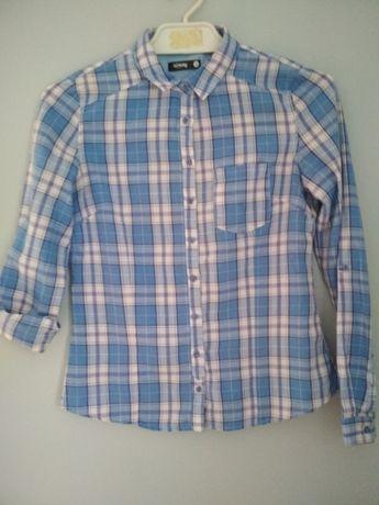 koszula damska S W kratę niebieska