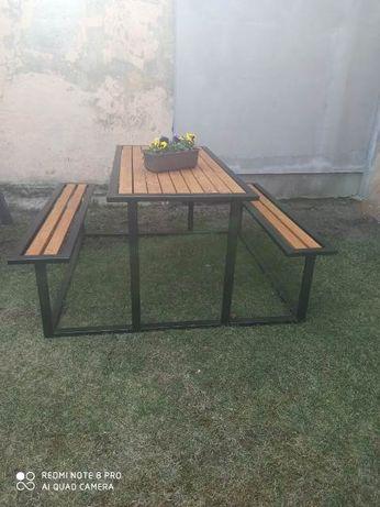 Meble ogrodowe ławka + stół
