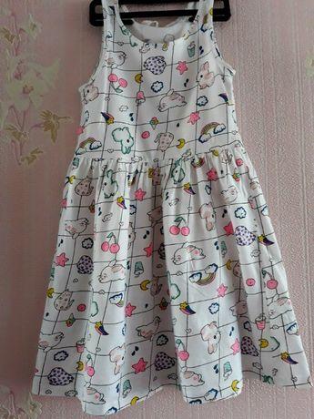 Котонове плаття 4-6років від фірми H&M