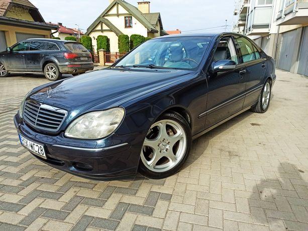 Mercedes Benz S-klasa W220 320CDI, zadbany, Alu 18, dociągi, zamiana