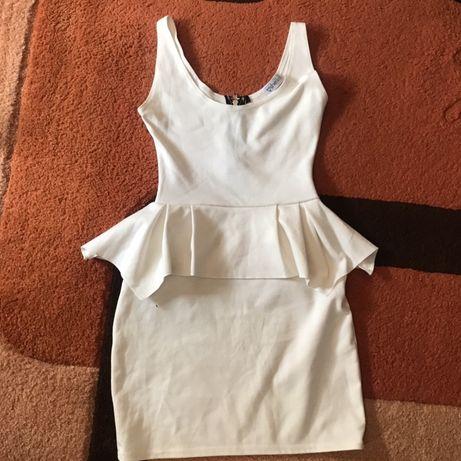 Продам белое платье с баской