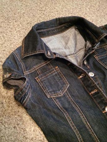Szmizjerka tunika jeans denim rozm.m