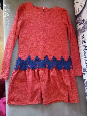 Тёплое платье для девочки 8-11 лет