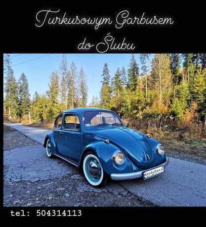 VW Garbus samochód do ślubu wesele sesje foto  imprezy reklama wynajem