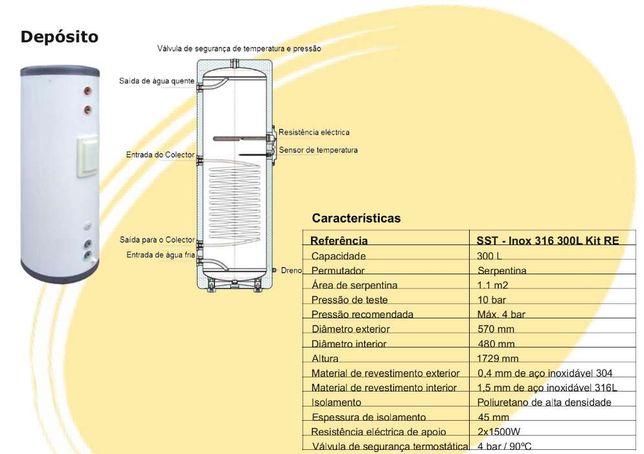 Depósito solar 300 lts (novo) OPORTUNIDADE!