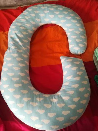 Poduszka dla ciężarnej, do karmienia z kocykiem, wyprawka