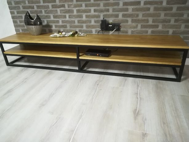 Stolik RTV, Półka szafka pod telewizor drewniana