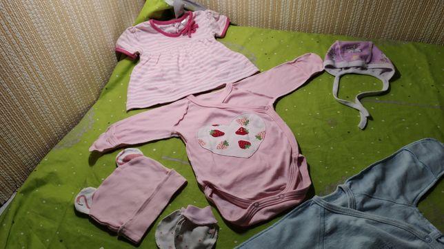 Новая одежда на девочку, вещи в роддом