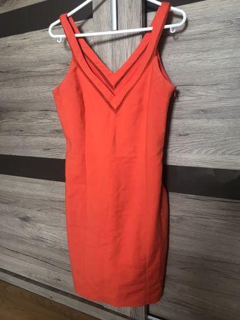 Sukienka ZARA pomarańczowa S