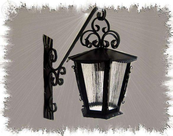 Kinkiet wiszący Kuty z ozdobami Lampa Ogrodowa ozdoba domu i ogrodu !