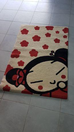 Carpete com imagem da Puca