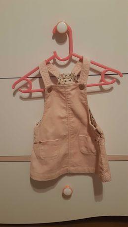Sztruksowa sukienka ogrodniczka ZARA 74