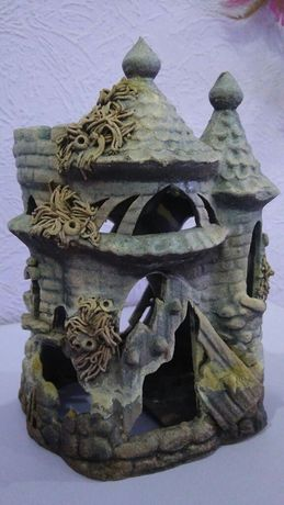 Замок для аквариума, декор