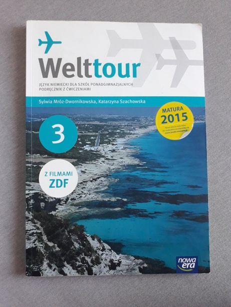 Weltour 3 JĘZYK NIEMIECKI LICEUM TECHNIKUM podręcznik z ćwiczeniami