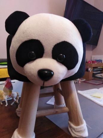 Fajny stołek taboret panda dla dziecka