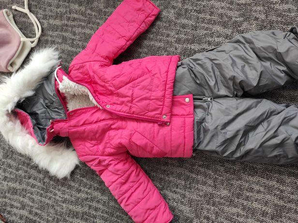 Теплый детский набор штаны+куртка