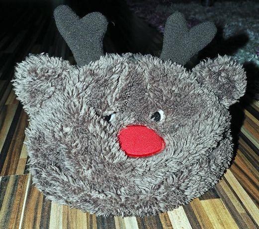 czapka czapeczka zimowa 0-6 mies 62 68 renifer niemowlęca świąteczna