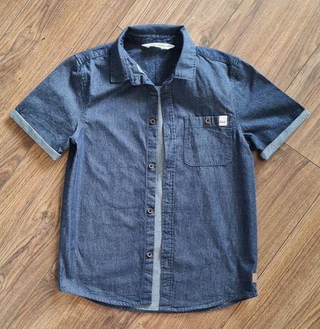 H&M koszula krótka rękaw ala jeansowa 146