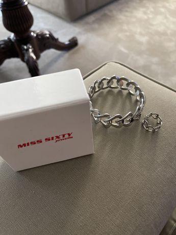 Pulseira e anel Miss Sixty