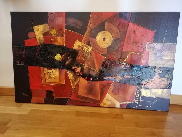 Quadro tela de pintura abstrata