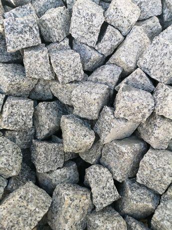Kostka granitowa szara 4/6 surowo łupana