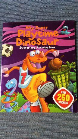 Książka My super Playtime Dinosaur, Activity Book, nalepki gry zabawy